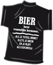 Mini-shirt Bier bevat
