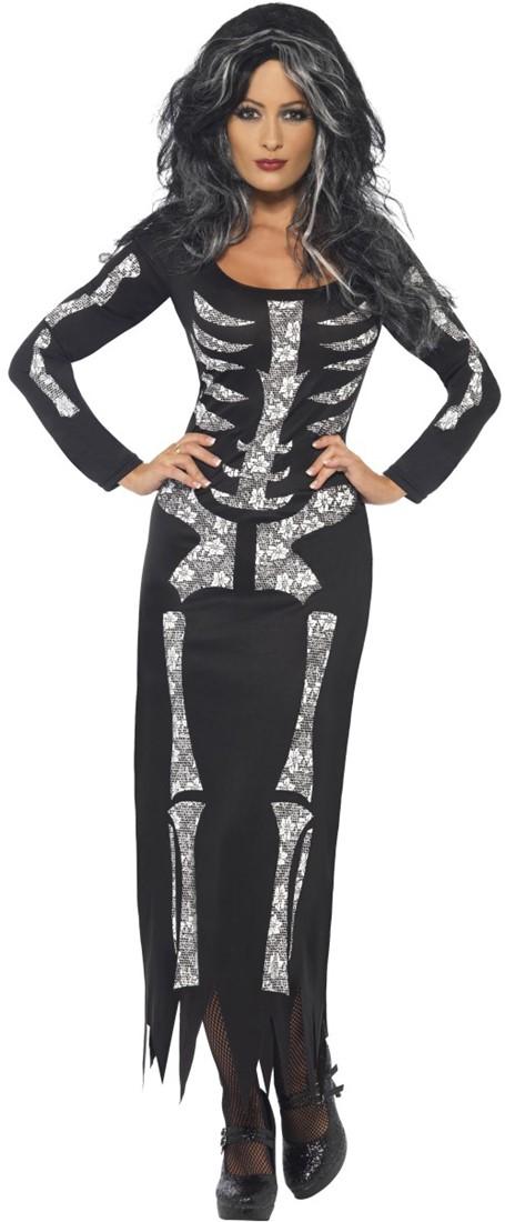 7c8537c91a0763 Halloween Jurk Skeleton voor dames