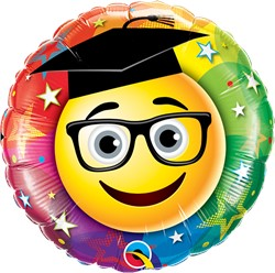 Folieballon Geslaagd - Graduate Smiley