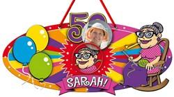 Deurbord Sarah 3D 53x26cm