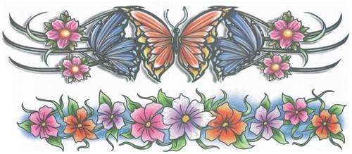 Arm Tattoos Flowers (2st.)