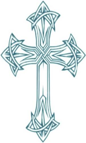 Tattoo Kruis (Biker Cross)