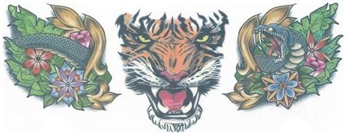 Nek Tattoo Tiger (3st.)