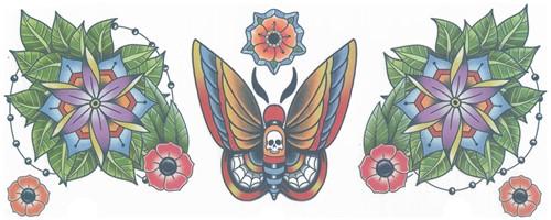 Nek Tattoo Moth