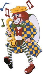 Deco Clown Saxofoon