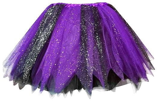 955b536caa49d7 Glitter Tule Rokje Zwart Paars