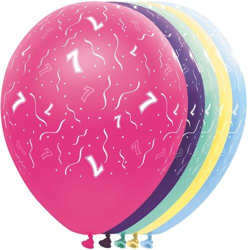 Ballonnen 7 jaar Metallic 5st