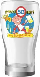 Bier glas Proost 50 jaar!