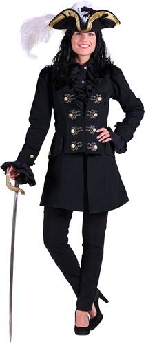 Dames Piratenjas Killing Kate Zwart (100% katoen)