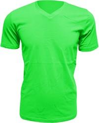 Heren T-Shirt V-Hals Appelgroen (Slim Fit)