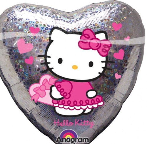 Folieballon Hello Kitty Hart