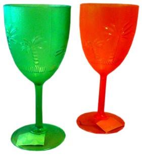 Wijnglas Hawai Groen Plastic