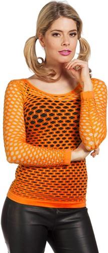 Nethemd Luxe Neon Oranje
