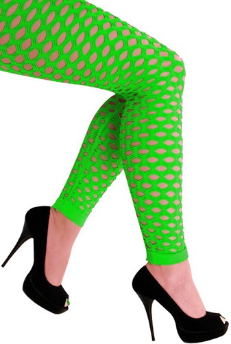 Legging met Gaten Neon Groen Luxe (Naadloos)