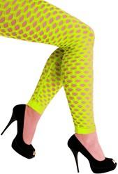 Legging met Gaten Neon Geel Luxe (Naadloos)