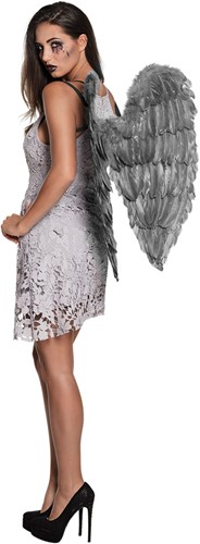 Engelen Vleugels Grijs (65x65cm)