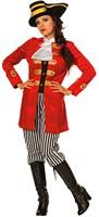 Dameskostuum Piraten Kapitein Luxe