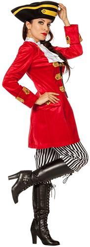 Dameskostuum Piraten Kapitein Luxe  -2