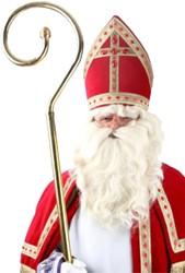 Baardstel Sinterklaas + Pruik en Snor Synthetisch