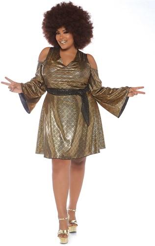 Tuniek Disco Doll Goud voor dames