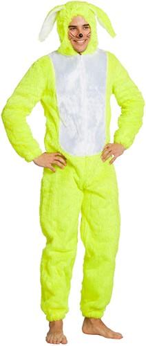 Kostuum Paashaas Neon Geel