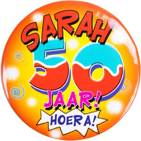 Spiksplinternieuw Button Sarah 50 jaar! Hoera! FG-38