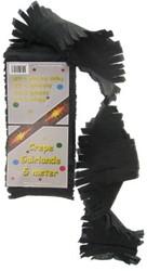 Crepe Guirlande 5 mtr Zwart