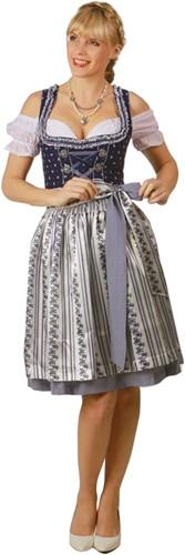 Dames Dirndl Belinda Luxe Blauw (60cm)