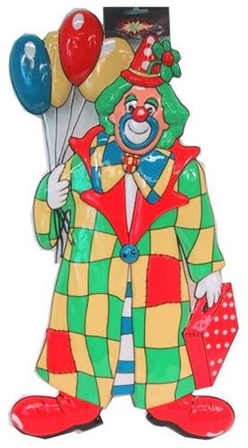 Deco Clown met Ballonnen Staand