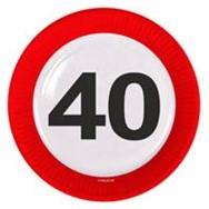 Bordjes 40 jaar Verkeersbord 8st
