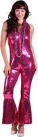 Pailletten Catsuit Luxe Pink voor dames