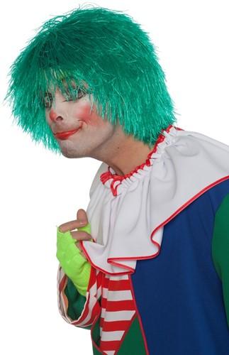 Clownspruik draadjes Groen
