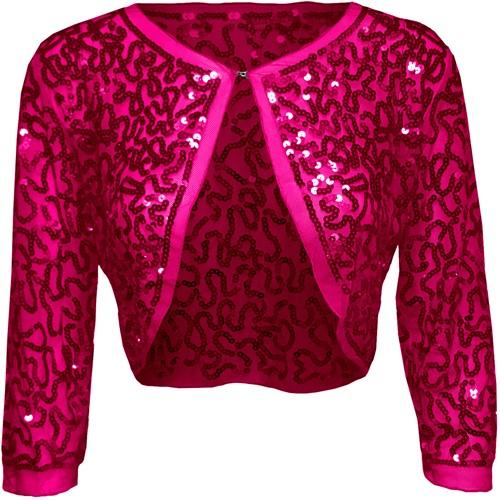 Bolero Pailletten Diva Pink