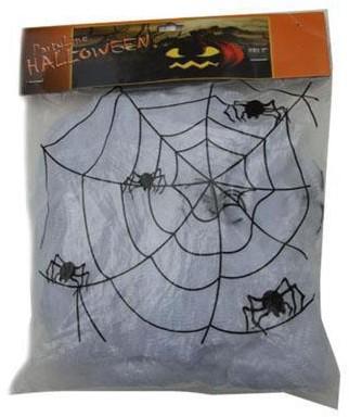 Spinnenweb 50g+2 spinnen Wit