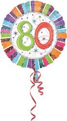 Folieballon 80th B-day Prismat