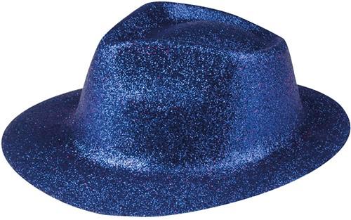 Disco Glitter Hoed Blauw