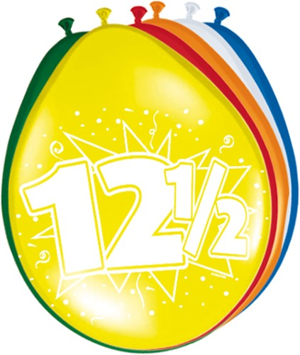 Ballonnen 12,5jaar 8st