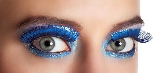 Wimpers Metallic Blauw