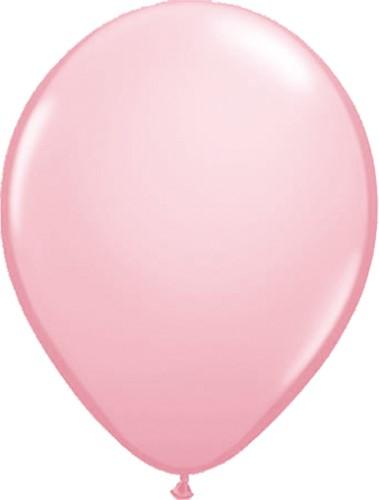 Ballonnen Metallic Roze 35cm - 100 stuks