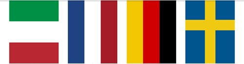 Vlaggenlijn Europa 10mtr.