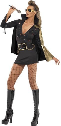 Elvis Kostuum Zwart voor dames