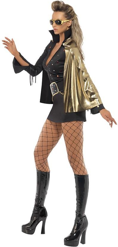 Kostuums Dames.Elvis Kostuum Zwart Voor Dames