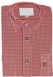 Kinder Tiroler Overhemd Rood Luxe