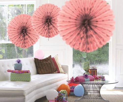 Decoratie Waaier Roze 45cm