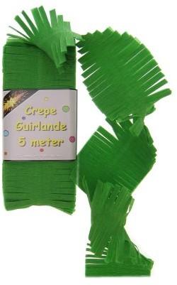 Crepe Guirlande Groen 5mtr