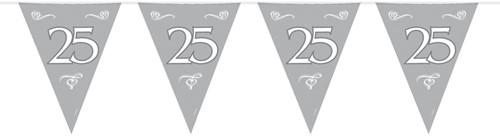 Vlaggenlijn 25 Zilver 10mtr