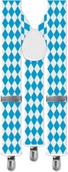 Bretels Oktoberfest Blauw/Wit