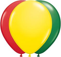 Ballonnen Rood-Geel-Groen 100 stuks 30cm