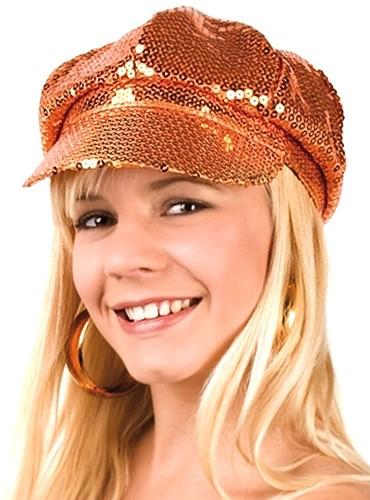 Cap Glitter Oranje