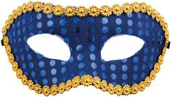 Domino Pailletten Blauw